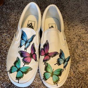 White butterfly vans